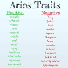 """Love, Light + Water on Instagram: """"Positive and negative traits of an Aries. ♈️➕➖ #astrology #zodiac #zodiacsigns #sunsign #moonsign #risingsign #goodtraits #badtraits #aries…"""" Aries Man Traits, Aries Personality Traits, Zodiac Sign Traits, My Zodiac Sign, Aries Zodiac Facts, Aries Astrology, Aries Quotes, Aries Horoscope, Aries Funny"""