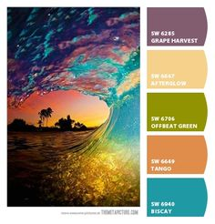 Tropical wave - Paint colors from Chip It! by Sherwin-Williams