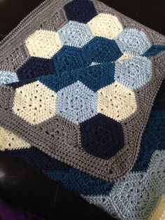 Baby Boy GeoHex Blanket - Made to Order on Etsy, $60.00