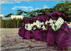 DunDun Dancers, Nigeria.    Circa 1959.