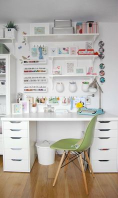 When it comes to creating craft room organization that makes the most of your area, these 10 Wall Space Storage Ideas have all the answers you need! Plus, isn't the clean and modern look so inspiring?