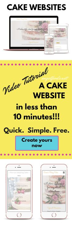 How to Build a Website (for a Cake Business) | How to build your own cake website in less than 10 minutes and it's free. Easy, cheap and good is what you want and today I have step-by-step instructions and video, that takes no technical knowledge, published (live) in 10 minutes!