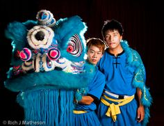 Traditional Taiwan Lion Dance Performers