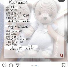Este posibil ca imaginea să conţină: text Teddy Bear, Toys, Handmade, Animals, Instagram, Charts, Crocheting, Boss, Activity Toys