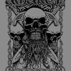Amon Amarth - Bearded skulls - Band Job - Music Art & Awesome Design