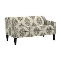 Patterned sofa from West Elm.
