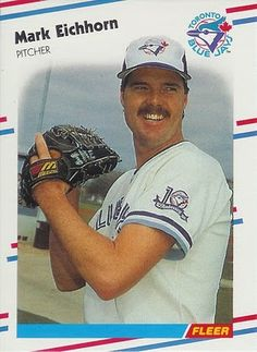 Mark Eichhorn, Toronto Blue Jays, 1988 Fleer
