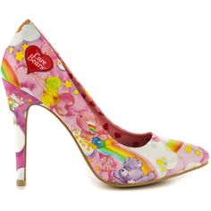 Iron Fist Women's Carebears Point Heel - Pink ($60) ❤ liked on Polyvore featuring shoes, pumps, pink pumps, heart pump, iron fist pumps, pointed toe high heel pumps and pointy pumps