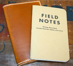 Leather Field Notes Holder $65.00