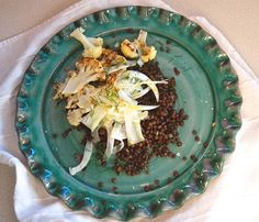 Roasted Cauliflower, Fennel and Lentil Salad