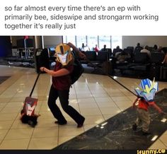 Yeah, pretty much. Only Sideswipe and Strongarm are almost always butting heads. Transformers Memes, Rescue Bots, Funny Memes, Jokes, Fight Club, Screwed Up, Sound Waves, Funny Photos, Places