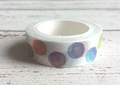 Coloured spotty bubble washi tape (1.5cm x 10m)