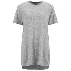 rag & bone Women's Hollins T-Shirt - Heather Grey ($110) ❤ liked on Polyvore featuring tops, t-shirts, dresses, shirts, tees, grey, short sleeve shirts, grey t shirt, collared t shirt and relax t shirt