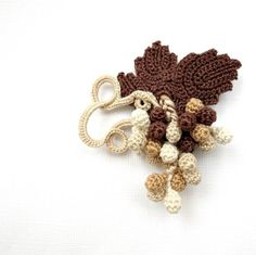 Crochet Brooch Grapes A Bunch Of Grapes In by BenosKnitCrochet