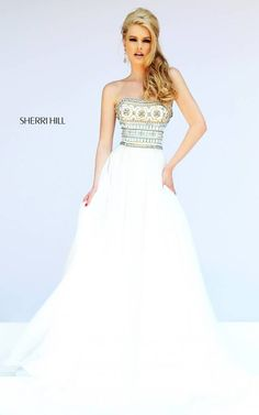 Sherri Hill 11175 Ivory Evening Gown