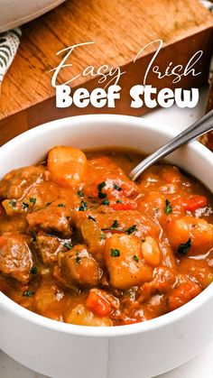 Dinner Party Recipes, Beef Recipes For Dinner, Easy Chicken Recipes, Cooking Recipes, Best Bread Pudding Recipe, Drink Recipe Book, Yummy Food, Tasty, Irish Recipes