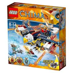 Lego Chima Fire Eagle Flyer 70142 Eris Legends Set Building Toy 330 Pcs NEW #LEGO