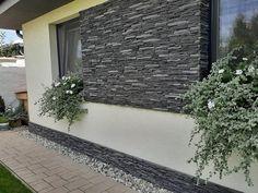 Exterior House Colors, Exterior Paint, Exterior Design, House Stairs, Facade House, Grey Houses, Small House Design, Home Design Plans, Landscape