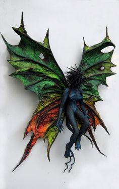 "Paper Mache ""Dark Butterfly"" | Gourmet Paper Mache Blog"