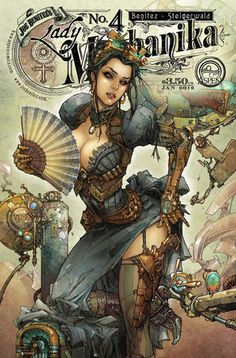Lady Mechanika by Kenneth Rocafort/ steampunk fantasy comic art Moda Steampunk, Steampunk Kunst, Style Steampunk, Steampunk Fashion, Steampunk Drawing, Steampunk Cards, Steampunk Images, Steampunk Makeup, Character Art