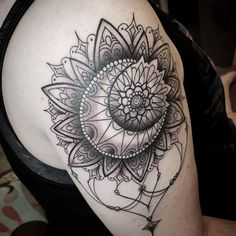 SUN & MOON MANDALA TATTOO - My newest piece by Carrie Black