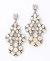 """Snowflake Chandelier Earrings - Undeniably chic, these striking earrings feature a brilliant drop of snowflake-inspired stones for the perfect holiday sparkle. Post back. 2 1/4"""" drop."""