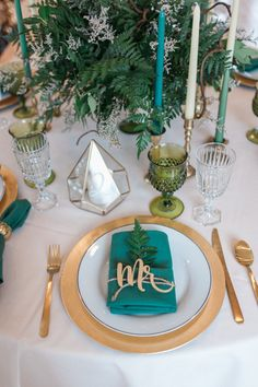 Springy and Fresh Emerald Styled Wedding in Coeur d'Alene // green and gold, floral, fauna, greenery, vintage modern, wedding decorations, wedding inspiration, table centerpieces, table numbers, mr. and mrs.,