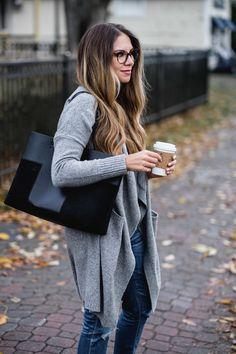 Fall grey cardigan #styleblogger