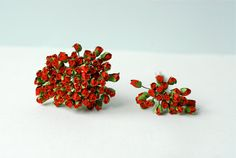 Paper flower  100 pieces mulberry budding rose 0.5cm. by Kamipapa