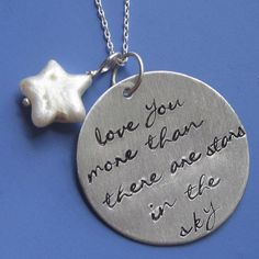 Love you more than there are stars in the sky necklace by sudlow, $40.00