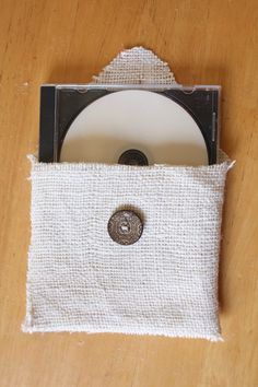 Pretty Packaging | DIY Burlap CD Case Love this packaging inspiration from Chic Critique Forum