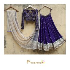 Bespoke Lehengas by Priti Sahni This is a customized lehenga designed for our lovely client Sonia in Canada To get your dream wedding outfit designed please Whatsapp to 24 June 2017 Lehnga Dress, Bridal Lehenga Choli, Indian Lehenga, Indian Gowns, Indian Attire, Indian Wear, Lehenga Blouse, Half Saree Designs, Lehenga Designs