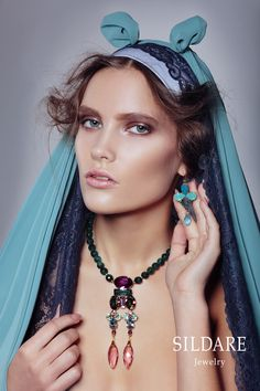 "Necklace.""SILDARE "" jewellery. Collection Florence.  Photography: Natalie Berezina.  Style: Anita Altmane.  Make up: Dita Grauda.  Model: Inese Suslova@2bmodels ."