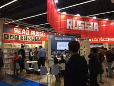 Russischer Stand im sowjetischen Retro-Stil Retro Stil, Broadway Shows, Book Fairs