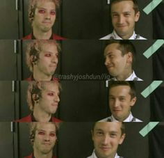 """""""I can here them , that makes me happy"""". Awe Tyler and josh are so cute"""