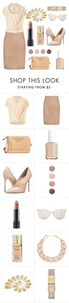 """""""I prefer to go NUDE."""" by anexushill ❤ liked on Polyvore featuring Miss Selfridge, Tom Ford, Karl Lagerfeld, Essie, Massimo Matteo, Terre Mère, Bite, Smith Optics, Elizabeth Arden and DIANA BROUSSARD"""