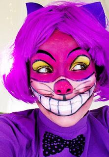 Cheshire Cat makeup.  Tutorial on You tube.