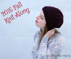 Knit Along with We All Knit Here and make the Arosa Slouchy Hat! Make this trendy hat with 1 ball of Lion Brand Wool-Ease Thick & Quick and size 16 and 15 double pointed knitting needles.