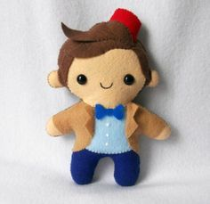 Matt Smith Doctor WHo Felt doll - so want to make this.