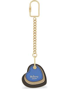 MULBERRY Three hearts leather key ring