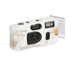 These Daisy Wedding Cameras just sparkle with style and fun practicality for your garden themed event. Add one to each of your reception tables for a dazzling opportunity for guests to capture some of the fun. Cameras features 27 exposures and come with a built in flash. Cameras are preloaded with AGFA 400 speed color film which is perfect for both indoor and outdoor use. When your guests are done, take them to any photo processor to see what fun moments and elegant your guests were able to…
