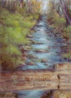 "'Honeymoon Bridge',   5"" x 7"", Oil on Canvas, by Debra Davies"
