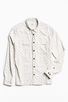 UO Ditsy Cross Print Flannel Button-Down Shirt - Urban Outfitters