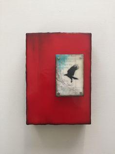 Corvid and Crimson Encaustic Painting, Chalk Pastels, Illuminated Letters, Mosaic Wall, Wood Engraving, Linocut Prints, Art Techniques, Landscape Paintings, Cool Art