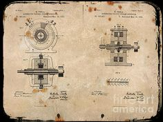 Nikola Tesla's Alternating Generator Patent 1891 by Paulette B Wright