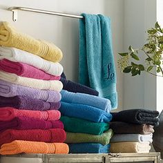 Company Cotton™ Towels - next time we get towels, we're getting different colors so we always know which one is ours!  Could do any of the blue greens in this line