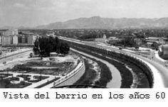 Vista del barrio en los años 60