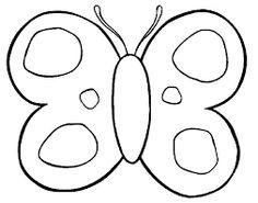 Resultado de imagen para dibujos de mariposas infantiles para colorear