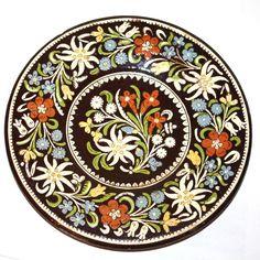Antique Thoune Majolika Faience Plate Johann Wanzenreid Switzerland circa 1800s, $200.00 -