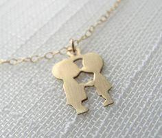 Kissing Couple Necklace - XOXO - Shops Uncovet